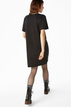 Monki Image 3 of T-shirt dress in Black