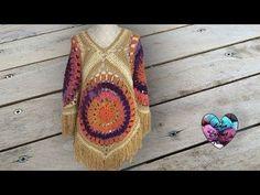Poncho Bohème Crochet très facile - YouTube
