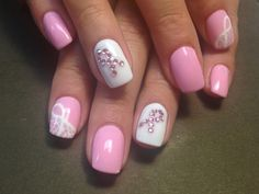 Some more nail art for breast cancer Awareness month