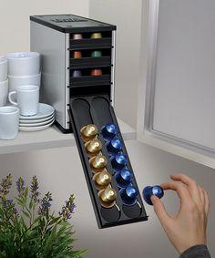 Electric Aluminum CafeStack Nespresso Capsule Holder By Youcopia