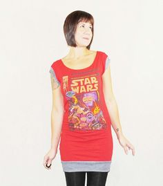 Star Wars Dress  Reconstructed Upcycled