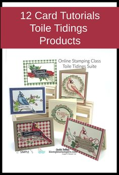 Tutorials for 12 unique cards using the Toile Christmas stamp set and other coordinating products. DIY your Christmas Cards with these gorgeous step-by-step card designs. www.klompenstampers.com - #christmascardshandmade #cardmakingtutorials #handmadecards #klompenstampers #jackiebolhuis
