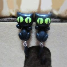 Lovely Cat Lying On The Ear Theme Handmade Womens Earrings,Two Kinds Of Styles,Four Colors