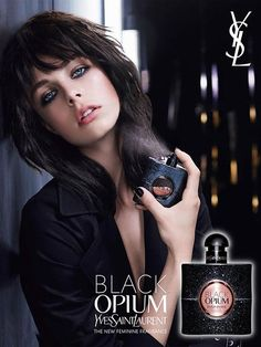 YSL Black Opium Fragrance F/W 2014 | Edie Campbell by Txema Yeste #fragrancecampaigns #YSL