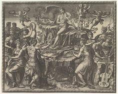 Apollo and the Muses Artist: Giorgio Ghisi (Italian, Mantua ca. 1520–1582 Mantua) Artist: After Luca Penni (Italian, Florence 1500/1504–1557 Paris) Date: ca. 1557 Medium: Engraving