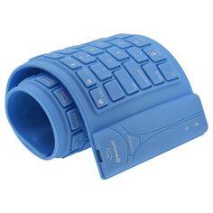 Bluetooth Tastatur flexibel. Nie mehr kaputte Tastatur weil Du einen Kaffee verschüttet hast. Unter www.cmondo.de kannst Du sie bestellen.