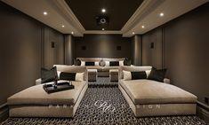 Home Theatre, Home Theater Room Design, Home Cinema Room, Home Theater Rooms, Media Room Design, Grey Interior Design, Custom Home Designs, Modern House Design, Luxury Homes