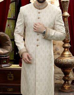 Pakistani Wedding Dresses for Handsome Grooms Sherwani For Men Wedding, Wedding Dresses Men Indian, Sherwani Groom, Wedding Dress Men, Pakistani Wedding Outfits, Wedding Groom, Wedding Wear, Mens Kurta Designs, Mehndi Designs