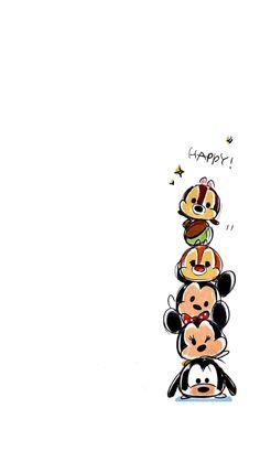 Disney Smile=) on We Heart It Tsum Tsum Wallpaper, Mickey Mouse Wallpaper, Disney Phone Wallpaper, Iphone Wallpaper, Disney Tsum Tsum, Disney Mickey, Disney Art, Cute Disney Drawings, Cute Drawings