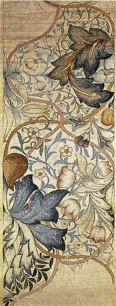 "seasonsofwinterberry: "" William Morris ~ ""Artichoke"" (1875) """