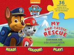 Nickelodeon Paw Patrol Story & Jigsaw Carry-Along Box Paw Patrol Books, Famous Books, Picture Puzzles, Colorful Pictures, Childrens Books, Jigsaw Puzzles, Box, Fictional Characters, Colorized Photos