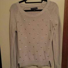 Studded Sweater Tan studded sweater Rock & Republic Sweaters Crew & Scoop Necks