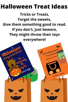 Halloween Treats don't need to be candy! Try some fun books instead!