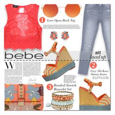 """All Laced Up for Spring with bebe: Contest Entry"" by cherry-bh ❤ liked on Polyvore featuring Bebe, Valentino, Erica Lyons, Spring, bebe, polyvorecontest and alllacedup"