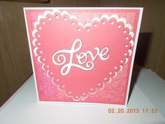 This card was made for my hubby for our anniversary..I used the cricut cartridge sweethearts