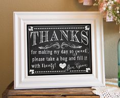 PERSONALIZED & CUSTOM 8x10 Thank You, Thanks, Greeting Sign - Chalkboard, Vintage, Birthday, Baby, Shower, Party - PDF File, You Print via Etsy