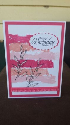 Stampin up simply sketched birthday card using washi tape / masking tape technique. Cased from Dawn Griffith. ~ Stamp with Rachel ~