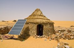 size: Photographic Print: Traditional House With a Solar Panel in the Sahara Desert, Algeria, North Africa, Africa by Michael Runkel : Subjects Solar Energy, Solar Power, Renewable Energy, Wind Power, Desert Sahara, Solar Roof Tiles, Solar House, We Are The World, Alternative Energy