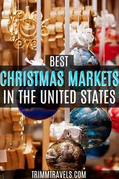 Christmas is a magical time of the year. Visiting one of these best Christmas markets in the USA is a great way to get on your holiday cheer! Christmas Markets in the USA | Trimm Travels | Christmas Markets | USA Christmas Markets | Best USA Christmas Markets | Holiday Markets | USA Holiday Markets | Holiday Markets in USA | Christmas | Holidays | Merry Christmas | Best Holiday Markets | December | Winter | Christmas | #christmas #holiday #markets #usa #unitedstates