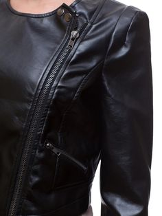 Shiny Moto Jacket via Poplooks