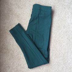 LOFT Teal Riding Leggings Thick leggings with stitching that makes it look like a traditional riding pant. Very cute with boots! LOFT Pants Leggings