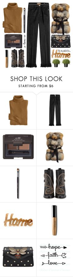 """I`m Thankful for..."" by grozdana-v ❤ liked on Polyvore featuring Frame, e.l.f., Gorski, Sophia Webster, Uma, Gucci, National Tree Company, love, Home and thanksgiving"