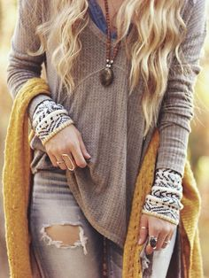 Free people sunset thermal top