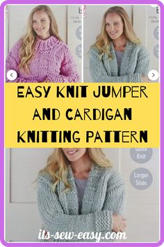 There's something irresistible about chunky jumpers and cardigans. Wearing one is like being in a warm and loving hug with no end. They are a must-have and a great challenge to intermediary knitters. Experienced ones will have an easier time completing the sweater. These easy to make jumpers and cardigans are not only warm and great way to keep the cold weather at bay but also deadly cute. #cardiganpatterns#knittedcardiganpattern#knittingpatterns#easyknitting#knittingathome#easycardiganpatterns Jumper Patterns, Knitting Patterns, Knit Cardigan, Sweater, Chunky Yarn, Getting Cozy, Jumpers, Cold Weather, Simple Designs