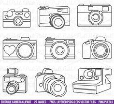 Camera Clipart, PSDs and Vectors by PinkPueblo on Creative Market