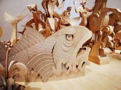 """The Cardboard Bernini"" more cardboard sculpture"
