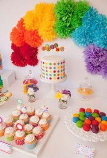 Cómo decorar cumpleaños infantiles con papel crepe y globos ~ Mimundomanual