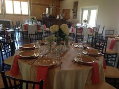 Reception today at the Boathouse at Up the Creek Farms