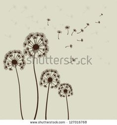 Decoration with dandelions. Vector
