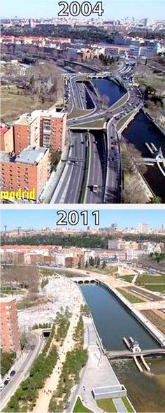 Puente del Rey riverside returned to the people of Madrid. Click image to tweet and visit the slowottawa.ca boards >> http://www.pinterest.com/slowottawa/