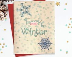 Mature Funny Holiday Card, Funny Greeting Card, Funny Christmas Card, Blank…