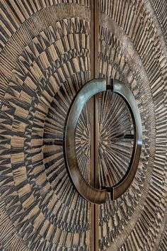 Doors shown in Bonded Bronze with Dark Patina and Corona pattern at Ameya Hotel, New Delhi, Delhi, India Design Home Door Design, Door Gate Design, Wooden Door Design, Main Door Design, Front Door Design, Entrance Design, Wooden Doors, House Design, Modern Entrance Door