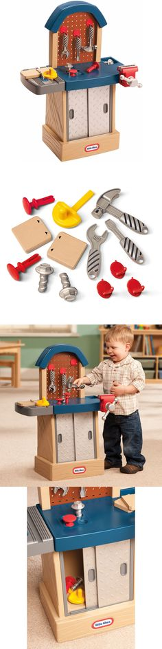 f32db37e5 Tool Sets 158747: Kids Toy Workshop Tools Set Pretend Play Toddler  Workbench Boys Gift Set Plastic -> BUY IT NOW ONLY: $43 on #eBay #workshop # tools ...