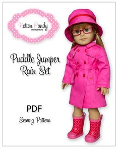 PDF Sewing Pattern for 18 Inch American by KottonCandyPatterns, $4.99==just bought this--too cute.