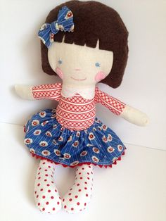 Fabric doll eco friendly doll handmade toy gift eco by babydearest, $35.00