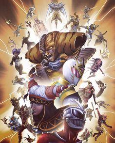 Boom Studios' Mighty Morphin Power Rangers San Diego Comic Con Exclusive Variant Cover by Joana Lafuente. Power Rangers Ninja Storm, Power Rangers Fan Art, Power Rangers Comic, Mighty Morphin Power Rangers, Thundercats, Gi Joe, Desenho Do Power Rangers, Power Rengers, Character Art