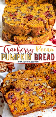 Don't let the holiday season pass without making Cranberry Pecan Pumpkin Bread! This easy recipe is going to become a new favorite. Bursting with fall flavors, this extra delicious and supremely moist loaf is a guaranteed hit with family and friends! Pin this for later!