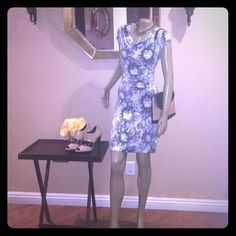 Michael Kors Tie Dye Slinky Dress Very comfortable but sexy MK dress. Worn once and this item shows no sign of being used. Necklace and purse are not included. Michael Kors Dresses Midi