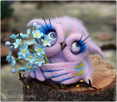 "Buy Sovushka ""The Dreamer"" - felt toys, flowers, brooch, flower brooch"