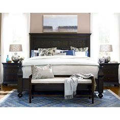 Have to have it. Paula Deen Down Home Aunt Peggys Panel Bed - Molasses - $1605 @hayneedle