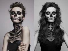 Day of the Dead Make-Up Zombie Makeup, Halloween Face Makeup, Sugar Skull, Make Up, Creativity, Party, Maquillaje, Maquiagem, Makeup