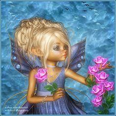 Fairy Poser Tubes | Fairy of Roses ( Blue Flutterbye )