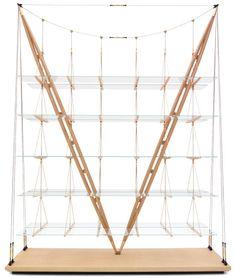 Il Veliero bookshelf by Franco Albini,  Cassina USA