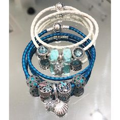 Mix and match shades of blue for a fun look this Summer!#pandorastyle #pandorawestfarms #pandora #pandorajewelry #mypandora #pandorainlove #lovepandora #pandoracharms #pandoracharm #pandorabracelet #westfarmsmall #westfarms #DOPandora #SS17 #Summer #summer2017