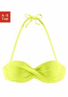 s.Oliver RED LABEL Beachwear Bügel-Bandeau-Top »Spain« ab 36,99€. Mix-Kini nach Lust und Laune mixen, Wattierte Cups bei OTTO