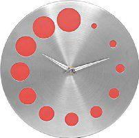 Jewel Fuel Steel Galaxy Red Analog 25 Cm Dia Wall Clock